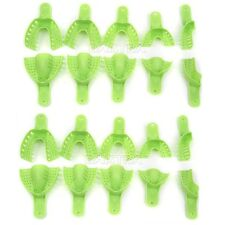 CA 2 X Impression Trays Autoclavable for Dental  repeated use  green 10pc/set