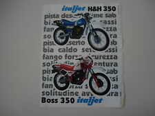advertising Pubblicità 1984 MOTO ITALJET H&H 350 / BOSS 350