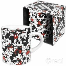 New Disney Mickey Mouse Repeat Mug Cup Tea Coffee Montage Retro Cartoon Official