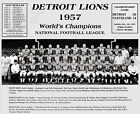 Detroit Lions - 1957 NFL Champions, 8x10 B&W Team Photo
