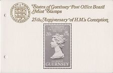 GUERNSEY PRESENTATION PACK MNH 1978 CORONATION 25TH ANNIVERSARY 10% OFF 5+