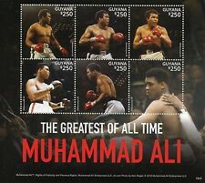 Guyana 2015 MNH Muhammad Ali Greatest of All Time 6v M/S Boxing Sports Stamps