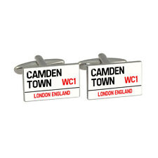 Camden Town Cufflinks Famous London  Classic Road Street WC1 Sign BNIB