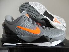 "NIKE ZOOM KOBE VII 7 SYSTEM ""PREDATOR PACK"" WOLF GREY-ORANGE SZ 13 [488371-002]"