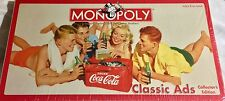 2005 MONOPOLY Coca-Cola CLASSIC ADS Collector's Edition Board Game - BRAND NEW