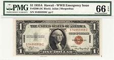 Fr. 2300 1935A $1 Silver HAWAII EMERGENCY ISSUE-PMG 66EPQ GEM UNC.- STUNNING!