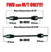 Front Left & Right CV Shaft Axles for Daihatsu Charade 1988 FWD with M/T ONLY!!!