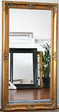 Gold Large Bevelled Wall Mirror & Frame, Antique, Chic, 150cm x 80cm
