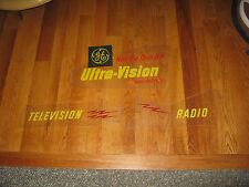 Vintage Plexiglas General Electric Television and Radio Signs