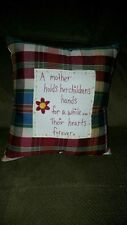 Pillow Primitive Country Rustic Home Decor Mother's Gift