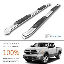 "4""Oval Bent Nerf Bar For 09-15 Dodge Ram 1500 Quad Cab Side Steps Running Boards"