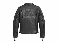 Harley Davidson Women's HERITAGE Braided Bar&Shield Leather Jacket 98064-13VW L