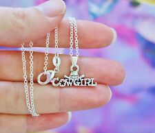 Cowgirl Horse NECKLACE Pony Lover Barn Life Pendant .925 Sterling Silver Chain