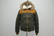 Nigel Cabourn Eddie Bauer Down Filled Fur Hooded Leather Trim Puffy Jacket 48 M