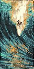 Bomb Drop by Marco Almera Canvas Giclee Retro Surfer Catching a Wave Ocean
