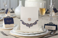 Elegant Laser Cut Navy Blue Invitation Style 2 For Wedding/ Occastion