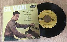 EP 45 tours Gil Vidal A travers Paris Va Le passé L'amour perdu 1962 EXC