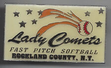 Lady Comets Fast Pitch Rockland County, NY 2 inch Softball Pin