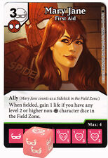 098 MARY JANE First Aid -Uncommon- THE AMAZING SPIDER-MAN Marvel Dice Masters
