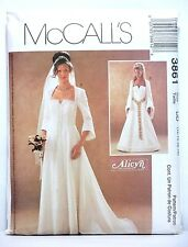 McCall's 3861 Medieval Renaissance Dress Bridal Gown 12-18 UNCUT Sewing Pattern