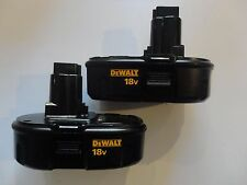 (2) DEWALT DC9098 18V 18 Volt Ni Cad Battery Packs Replaces DC9099 DC9096