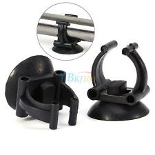 "2x Black Suction Sucker Cup Holder 1.1"" Dia For Aquarium Heater Tubing Tube Bar"