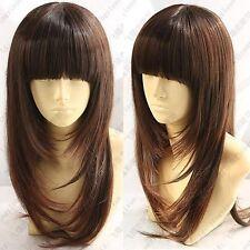 JIAFA113  long health  hair brown wavy long wig wigs for women