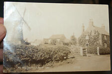 SUTTON ON TRENT WINDMILL  PHOTO POSTCARD  1905 ERA