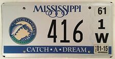 MS CATCH A DREAM FISH license plate Big Game Fishing Hook Fly Fisherman Angler