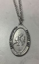 St. Christopher Girls Field Hockey Medal with chain.  Keeping God in Sports