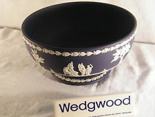 "Wedgwood Jasper Ware "" Portland Blue ""Large Pedestal Bowl, Beautiful Condition !"