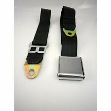2 point airplane seatbelt PAIR black hot street rat rod gasser SALE airway ez ss