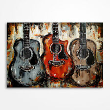 Original acoustic guitar painting on canvas, Large Music Art -  MADE TO ORDER