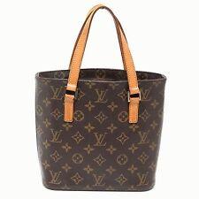 Louis Vuitton Brown Monogram Canvas Vavin PM ToteBag Beige Leather Handle Handbg