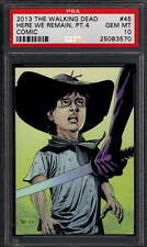 2013 Cryptozoic #45 The Walking Dead Comic We Remain Carl Grimes PSA 10