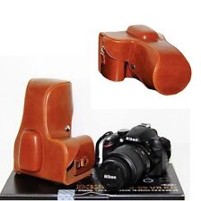 PU Leather Camera Case Bag For Nikon D3300 D3200 3100 Cameras with 18-55mm Lens