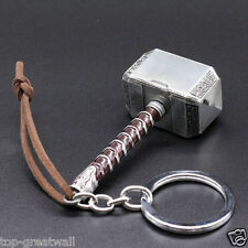 Marvel Avengers Thor Thor's Hammer Metal Keyring Keychain Silver Color