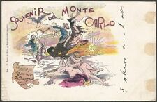 Souvenir de Monte Carlo Prince de la Desolation color UB postcard Monaco to USA