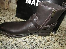 NEW STEVE MADDEN DIFFER BROWN ANKLE BOOTS MENS 9.5 MADDEN M-DIFFER FREE SHIP