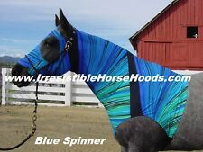 MEDIUM BLUE SPINNER  LYCRA HORSE SLEAZY + TAIL BAG *M