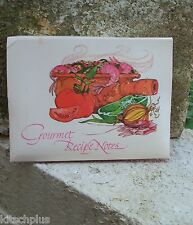 Vtg Recipe Note Greeting Cards 70's Jambalya Caesar Salad Sherbert Cucumber Soup