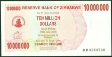 TWN - ZIMBABWE 55b - 10000000 D. 1.1.2008 UNC Pref. BD - FREE SHIPPING over €150