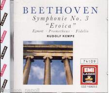 Beethoven: Symphony (Sinfonia) No 3, Egmont, Fidelio, Prometheus / Kempe  CD Emi