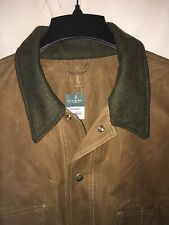 NEW WITH TAGS FILSON MADE IN USA OIL FINISH TIN CLOTH JACKET XL WOOL COLLAR