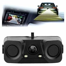 3in1 170°Car Visual Reversing Rear View Camera with Backup Radar Parking Sensor