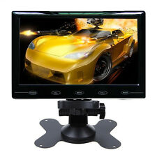 HD Ultra Thin 9'' TFT LCD Color Car Rearview Monitor Audio Video HDMI VGA Input