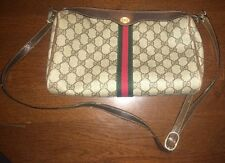 Authentic Vintage GUCCI Web Doctor Boston Bag Speedy Purse Satchel Handbag Tote