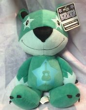 ROCKSTAR Peekaboo Stuffed Animal Plush Teddy Bear Guitar Green - New!