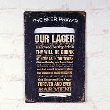 The Beer Prayer Vintage  Metal Tin Sign Retro Bar Home Pub Shop Wall Decor