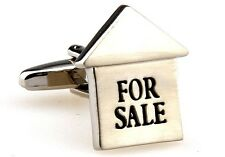 Realtor For Sale Sign Cufflinks Wedding Fancy Gift Box Free Ship USA